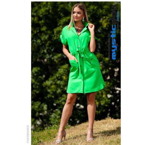 Mystic Day zöld lenge alakformáló ruha