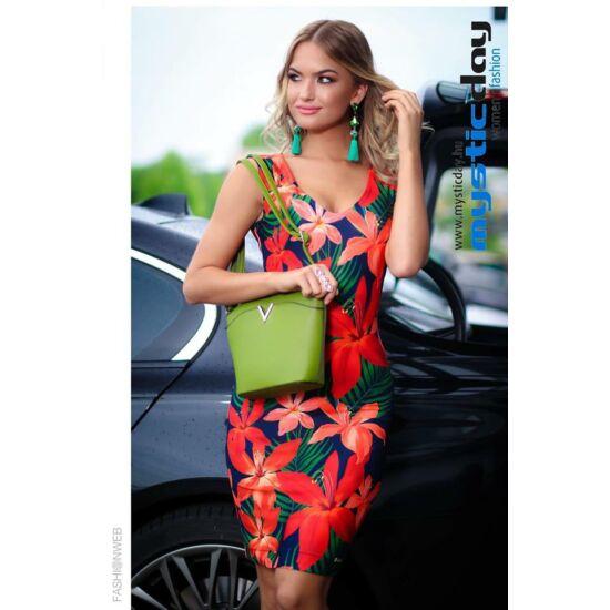 Mystic Day V-kivágású virágmintás alakformáló ruha