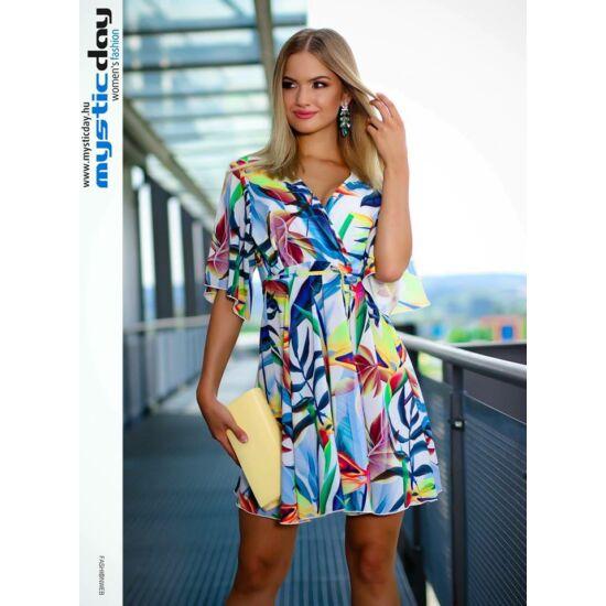 Mystic Day papagáj virágos alakformáló ruha