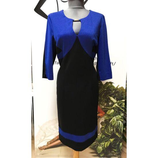 Mystic day kék fekete alakformáló ruha
