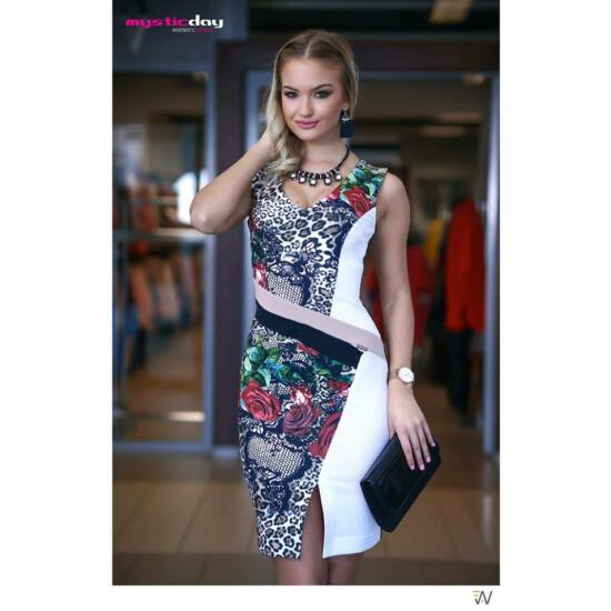 Mystic Day ocelot és virágmintás alakformáló ruha 79ca6dcf92