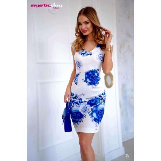 Mystic day  fehér alapon virágmintás alkalmi ruha
