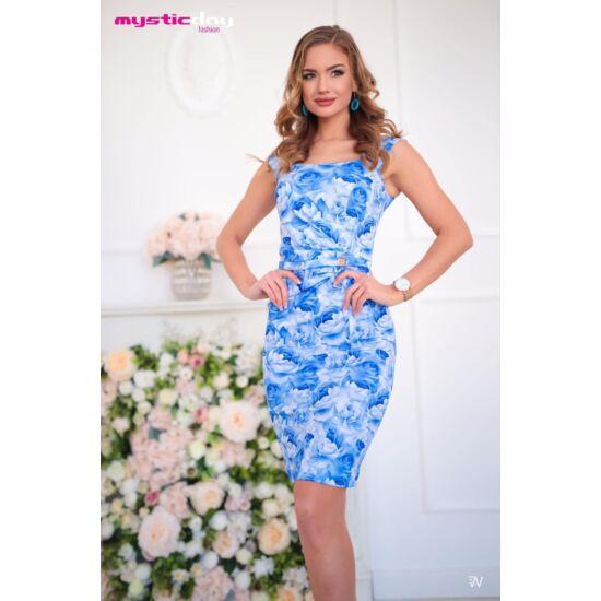 Mystic day kék virágmintás alakformáló ruha