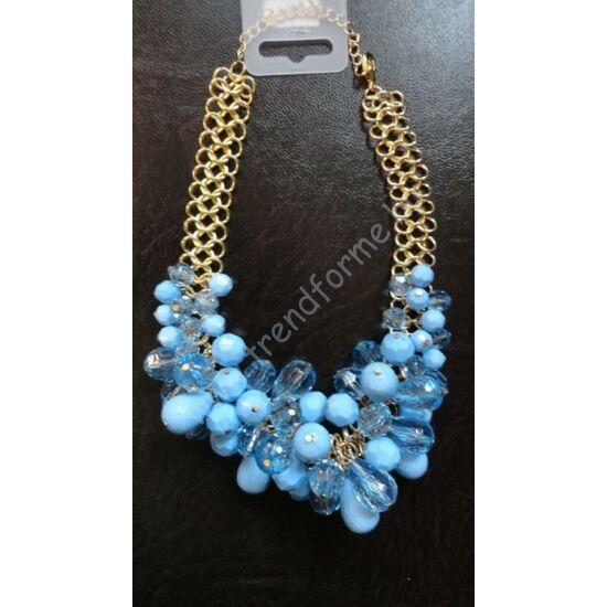 Arany színű  nyakék kék kövekkel