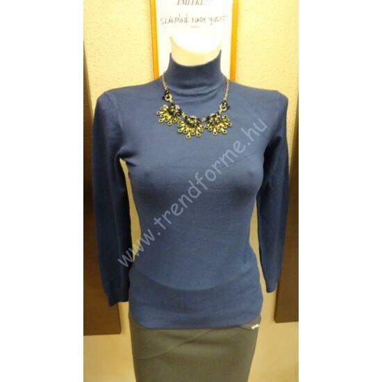 Blue Barbara álló nyakú kék felső