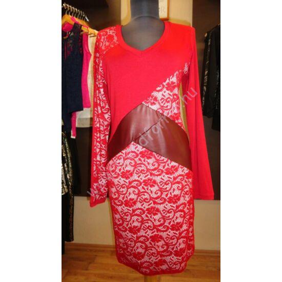 Juliette piros csipkemintás ruha