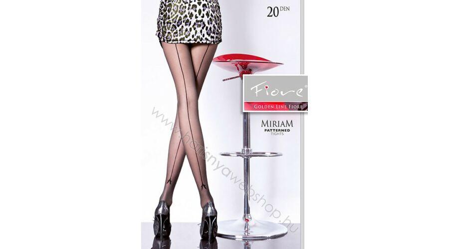 Fiore Miriam mintás fekete harisnyanadrág 56b377f592