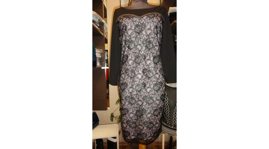 3c3bebba65 Fekete alapon csipke alakformáló alkalmi ruha