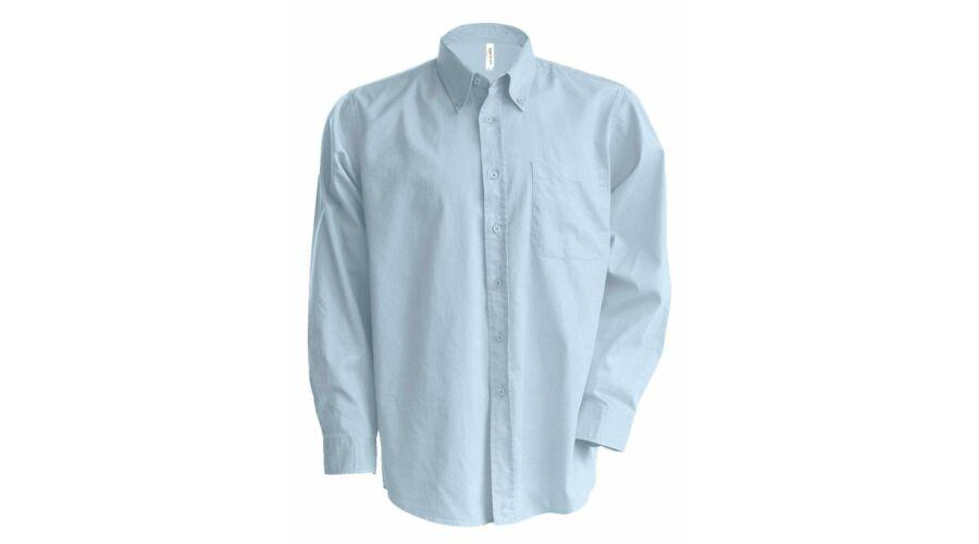 26e3535e52 Kariban hosszú ujjú könnyen kezelhető férfi ing világoskék