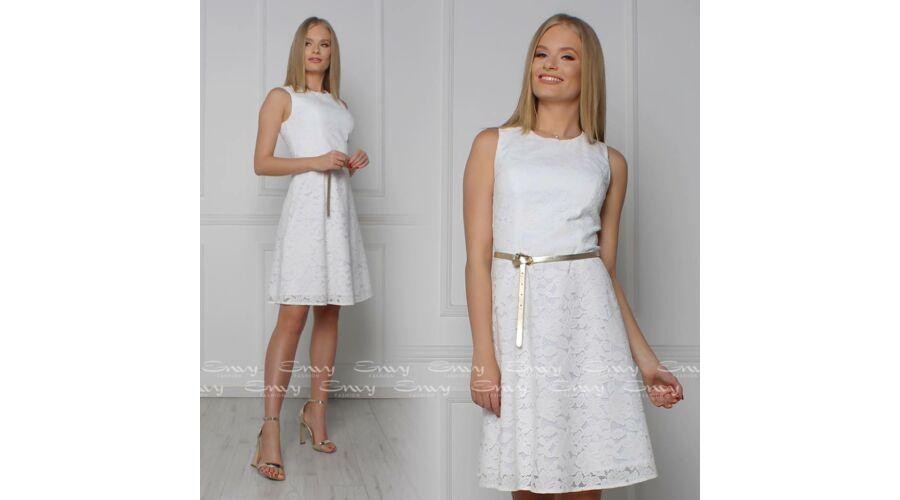939de25b70 Envy fehér csipkés A-vonalú ruha öv nélkül